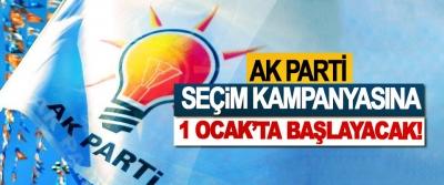 Ak Parti seçim kampanyasına 1 Ocak'ta başlayacak!
