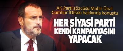 AK Parti sözcüsü Mahir Ünal Cumhur İttifakı hakkında konuştu