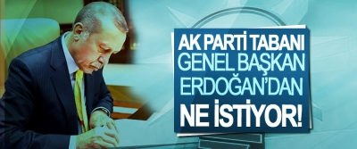 Ak parti tabanı genel başkan Erdoğan'dan ne istiyor!