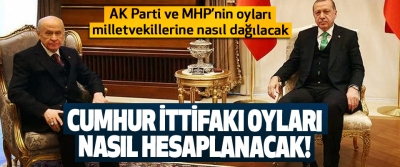 AK Parti ve MHP'nin oyları milletvekillerine nasıl dağılacak