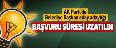 AK Parti'de belediye başkan aday adaylığı Başvuru Süresi Uzatıldı