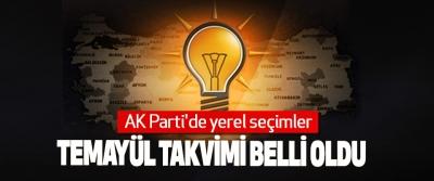 AK Parti'de yerel seçimler Temayül Takvimi Belli Oldu