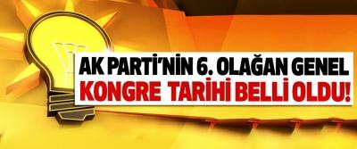 AK Parti'nin 6. Olağan genel kongre tarihi belli oldu!