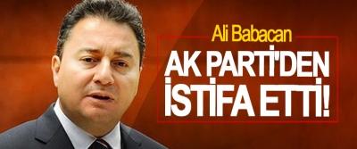 Ali Babacan,  Ak Parti'den istifa etti!