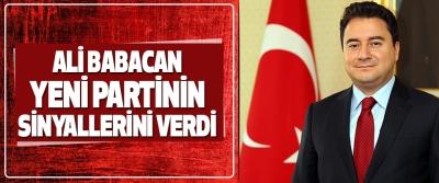 Ali Babacan Yeni Partinin Sinyallerini Verdi