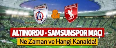 Altınordu - Samsunspor maçı Ne Zaman ve Hangi Kanalda!
