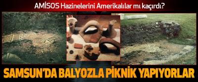 Amerikalılar Samsun'da Balyozla Piknik Yapıyorlar