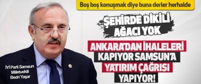 Ankara'dan İhaleleri Kapıyor Samsun'a Yatırım Çağrısı Yapıyor!