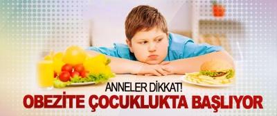 Anneler dikkat! Obezite çocuklukta başlıyor