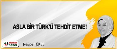 Asla bir Türk'ü tehdit etme!