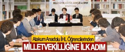 Atakum Anadolu İHL Öğrencilerinden Milletvekilliğine İlk Adım