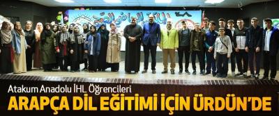 Atakum Anadolu İHL Öğrencileri Arapça Dil Eğitimi İçin Ürdün'e Gitti