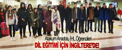 Atakum Anadolu İHL Öğrencileri Dil Eğitimi İçin İngiltere'de!