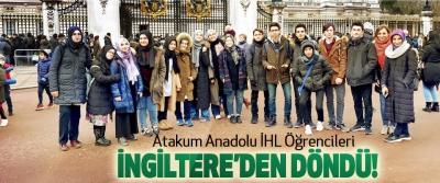 Atakum Anadolu İHL Öğrencileri İngiltere'den Döndü!