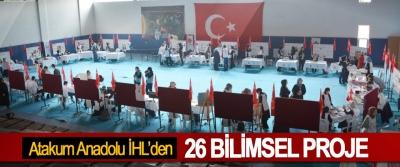 Atakum Anadolu İHL TÜBİTAK 4006 Bilim Fuarında 26 Bilimsel Proje Sergiledi