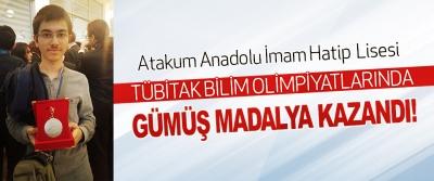 Atakum Anadolu İmam Hatip Lisesi Tübitak Bilim Olimpiyatlarında Gümüş Madalya Kazandı!