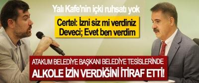 Atakum Belediye Başkanı Belediye Tesislerinde Alkole izin verdiğini itiraf etti!