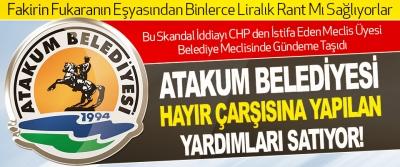 Atakum Belediyesi Hayır Çarşısına Yapılan Yardımları Satıyor!