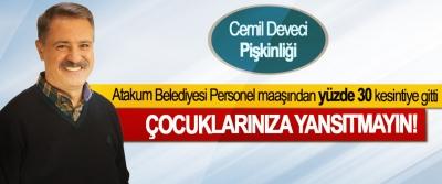 Atakum Belediyesi Personel maaşından yüzde 30 kesintiye gitti