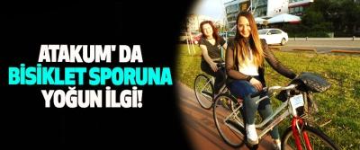 Atakum' da bisiklet sporuna yoğun ilgi!