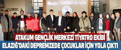 Atakum Gençlik Merkezi Tiyatro Ekibi, Elazığ'daki Depremzede Çocuklar İçin Yola Çıktı