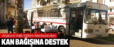 Atakum Halk Eğitim Merkezinden Kan Bağışına Destek