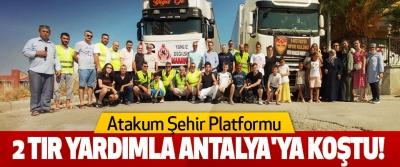 Atakum Şehir Platformu 2 tır yardımla Antalya'ya Koştu!