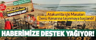 Atakum'da içki Masaları Deniz Kenarına taşınmaya başlandı! Haberimize destek yağıyor!