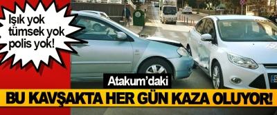 Atakum'daki Bu Kavşakta Her gün Kaza Oluyor!