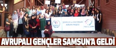 Avrupalı Gençler Samsun'a Geldi