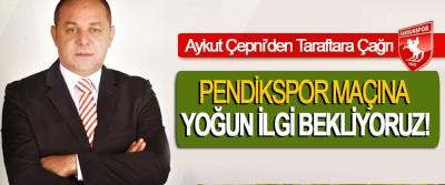 Aykut Çepni'den Taraftara Çağrı: Pendikspor maçına yoğun ilgi bekliyoruz!