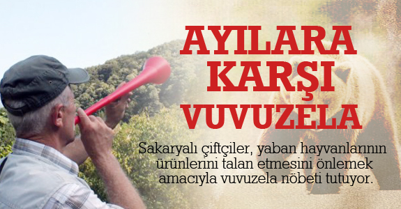 Ayılara karşı vuvuzela!