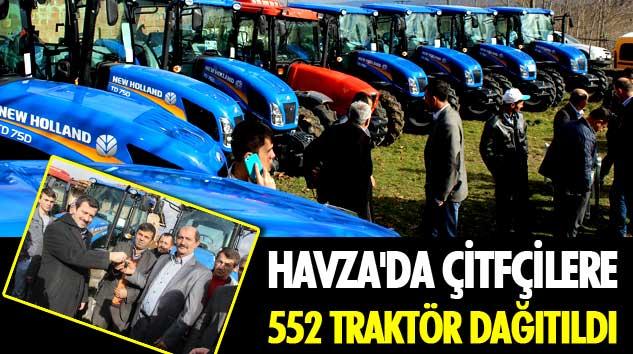 Havza'da Çitfçilere 552 Traktör Dağıtıldı
