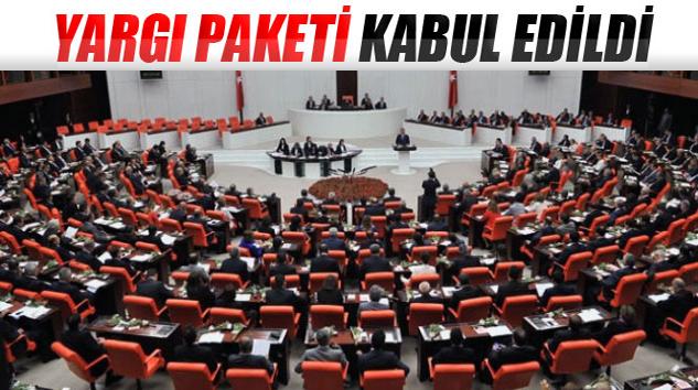 'Yargı Paketi' TBMM Genel Kurulu'nda kabul edildi