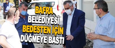 Bafra Belediyesi Bedesten İçin Düğmeye Bastı