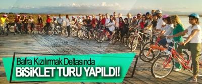 Bafra Kızılırmak Deltasında Bisiklet Turu Yapıldı!