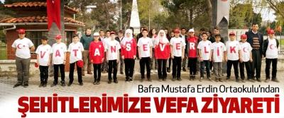 Bafra Mustafa Erdin Ortaokulu'ndan Şehitlerimize Vefa Ziyareti