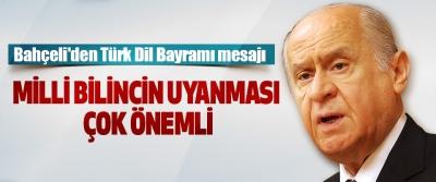 Bahçeli'den Türk Dil Bayramı mesajı