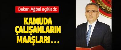Bakan Ağbal: Kamuda çalışanların maaşları 13 Haziran'da yatacak
