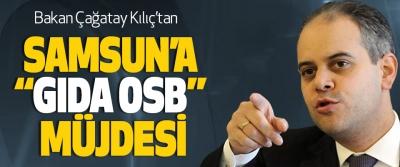 """Bakan Çağatay Kılıç'tan Samsun'a """"Gıda Osb"""" Müjdesi"""