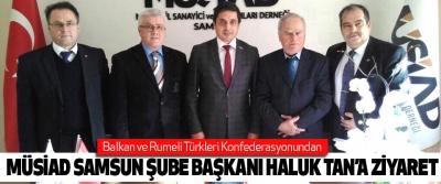 Balkan ve Rumeli Türkleri Konfederasyonundan Müsiad Samsun Şube Başkanı Haluk Tan'a Ziyaret