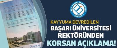 Başarı Üniversitesi Rektöründen Korsan Açıklama!