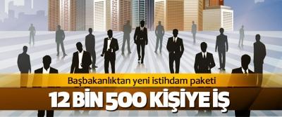 Başbakanlıktan yeni istihdam paketi 12 Bin 500 Kişiye İş