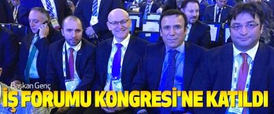 Başkan genç iş forumu kongresi'ne katıldı