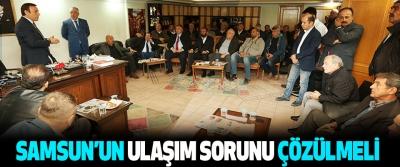Başkan Genç: Samsun'un Ulaşım Sorunu Çözülmeli