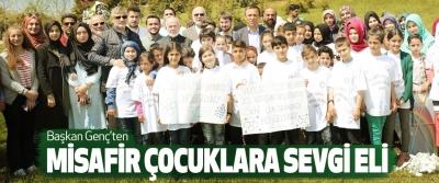 Başkan Genç'ten Misafir Çocuklara Sevgi Eli
