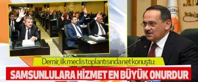 Başkan Mustafa Demir, ilk meclis toplantısında net konuştu