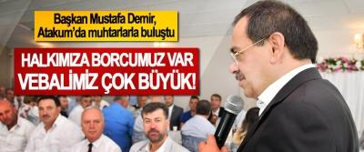 Başkan Mustafa Demir, Atakum'da muhtarlarla buluştu