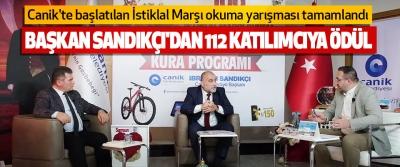 Başkan Sandıkçı'dan 112 Katılımcıya Ödül