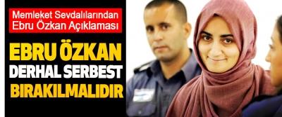 Başkan Şanlı, Ebru Özkan Derhal Serbest Bırakılmalıdır
